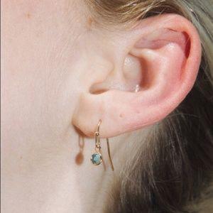 NWT Brandy Melville Teal Gem Silver Earrings